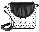 #7: Snoogg Cute Panda Black And White Pattern Womens Sling Bag Small Size Tote Bag
