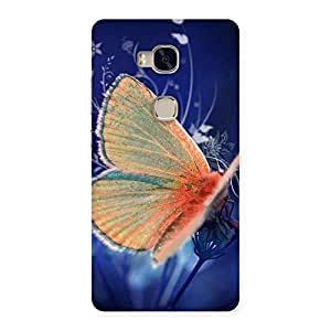 Yellowish Butterfly Back Case Cover for Huawei Honor 5X
