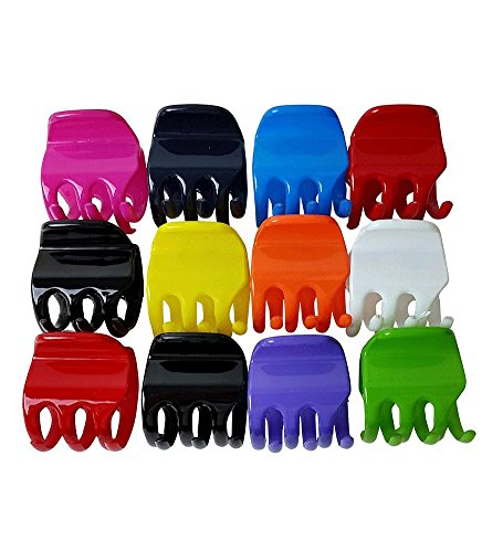 Dozen Pack -12 Vivid Extra Strong Jaw Clips (Jaw Clips For Women compare prices)