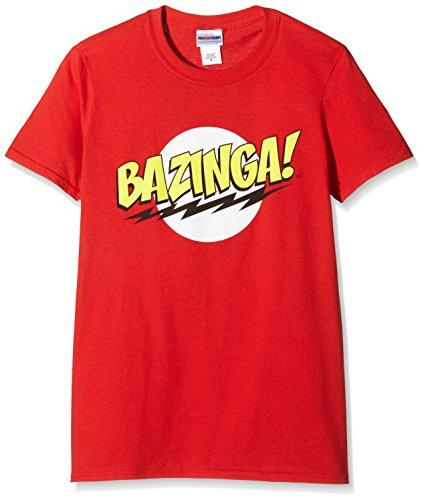 Big Bang Theory Bazinga, T-Shirt Uomo, Rosso, Small