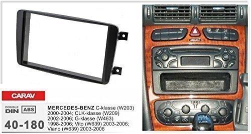 CARAV-40-108-doppel-DIN-Radioblende-fr-MERCEDES-C-klasse-W203-CLK-W209-G-W463-Viano-Vito-W639