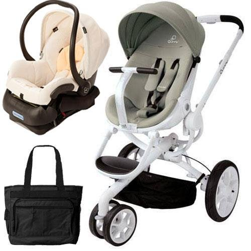 Quinny CV078BFV Moodd Stroller Travel system with diaper bag and car seat - Natural Bright