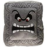 Nintendo Official Super Mario Thwomp Cushion/Pillow Plush, 12