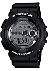 Casio Men's GD100BW-1 G-Shock Magnetic Resistant Black Resin Digital Watch