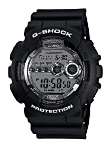 Casio Men's GD100BW-1 G-Shock Magnetic Resistant Black Resin Digital Watch