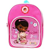 NEW Kids Disney Doc Mcstuffins Plain Backpack with front pocket 'MAKE IT ALL BETTER'