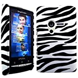 CellBig Zebra Hard Back Case Cover Pouch Mask Wallet Holster for Sony Ericsson Xperia X10 Mini