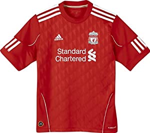Liverpool 20102012 Junior Home Shirt Red 10 Years by Adidas