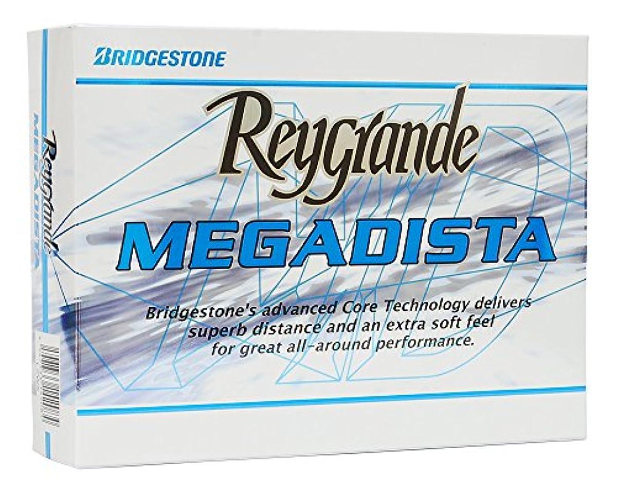 [해외] BRIDGESTONE(브리지스톤) Reygrande 메가 디 스타 골프 볼 1다스(12개 들이)   화이트