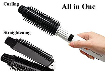 CHAHONG All in One Brush Hair Styler Straightener and Curling Iron with Negative Ion Ceramic Plate Famous Stlying Hair Product in Korea