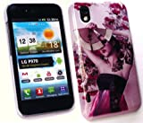 FLASH SUPERSTORE LG OPTIMUS BLACK/WHITE P970 GEISHA GIRL SUPER SLIM CLIP ON PROTECTION CASE/COVER/SKIN
