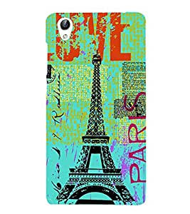 Vizagbeats Eiffel Tower Back Case Cover for Oppo A37