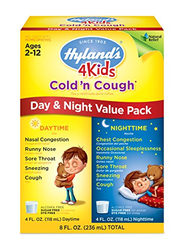 Hyland's 4 Kids Cold and Cough Day and Night Value Pack, Natural Common Cold Symptom Relief, 8 Ounce (Natural Cough Syrup compare prices)