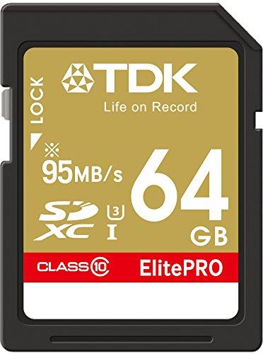 【Amazon.co.jp限定】TDK SDXCカード 64GB UHS-1 U3対応 最大読込速度95MB/s,最大書込速度90MB/s 4K動画撮影 5年保証 フラストレーションフリーパッケージ (FFP) SDXC10UP-64G-FFP