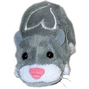 Giochi Preziosi - 2800 - Zhu Zhu Pets - Peluche Interactive - Hamster Gris - Num Nums