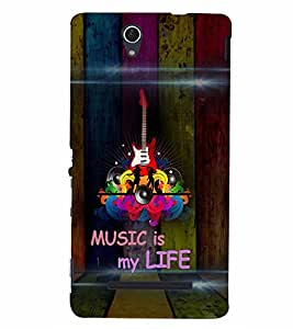 PrintVisa Music is my Life 3D Hard Polycarbonate Designer Back Case Cover for Sony Xperia C3 Dual