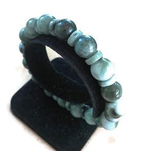 Lucky Green Myanmar Jade Amulet Bracelet Good Fortune,Wealth.