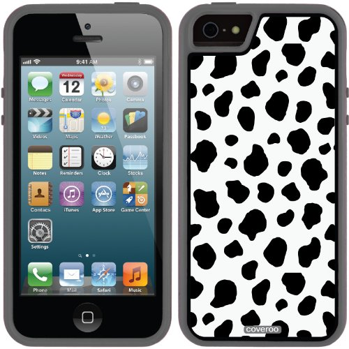 Great Price Crazy Cow design on a Black iPhone 5s / 5 Guardian / Ruggedized Case by Coveroo