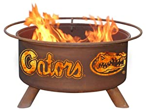 University of Florida Gators Portable Steel Fire Pit Grill by Patina