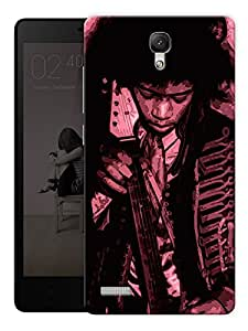 """Jimi Hendrix Old School Printed Designer Mobile Back Cover For """"Xiaomi Redmi Note - Note 4G"""" By Humor Gang (3D, Matte Finish, Premium Quality, Protective Snap On Slim Hard Phone Case, Multi Color)"""