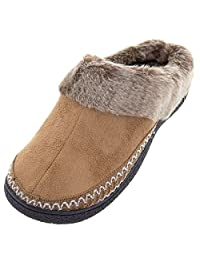 Isotoner Womens Buckskin Clog Slippers