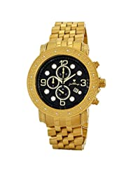 "JBW-Just Bling Men's JB-6116-D ""Tazo"" 18K Gold-Plated Chronograph 0.16 Carat Diamond Watch"