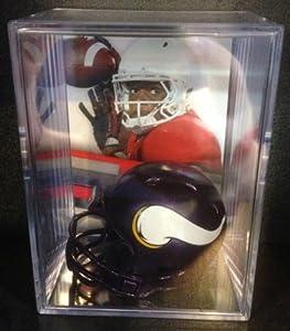 Minnesota Vikings NFL Draft Helmet Shadowbox w  Teddy Bridgewater card by Riddell