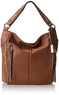 Jessica Simpson Dream Weaver Bucket Shoulder Bag,Whiskey/Sesame,One Size