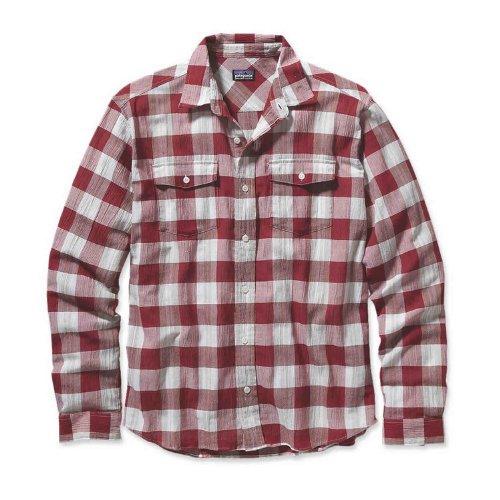 Patagonia STEERSMAN-Camicia da uomo rosso Large