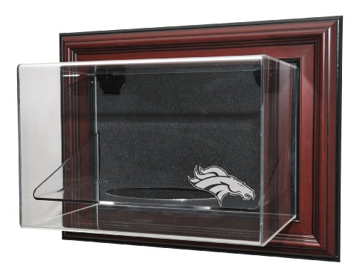 Denver Broncos Football Case-Up Display, Mahogany