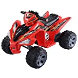 Giantex Kids Ride On ATV Quad 4 Wheeler Electric Toy Car 12V Battery Power Red (Color: red)