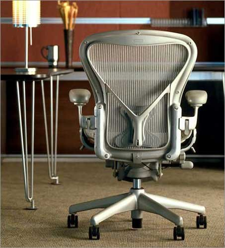 herman miller aeron chair highly adjustable with