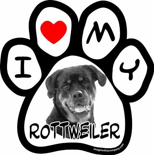 Rottweiler Car Magnet5-1/2-Inch by 5-1/2-Inch