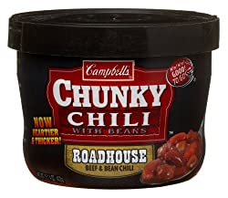 Campbell Chunky Roadhouse Beef and Bean Chili, 15.25-Ounce Microwavable Containers (Pack of 8)