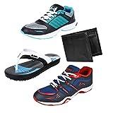 #10: Earton Men Combo Pack of 4 Sports Shoe With Wallet & Slipper