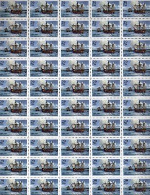 Columbus at Puerto Rico 500th Anniv. 50 x 29 cent US Postage Stamp Scot #2805