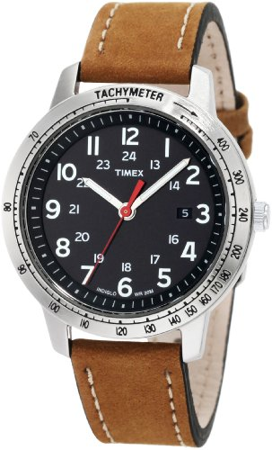 Timex Men's T2N636 Weekender Sport Brown Nubuck Leather Strap Watch