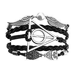 Sortitio's Triangle Owl Black Bracelet