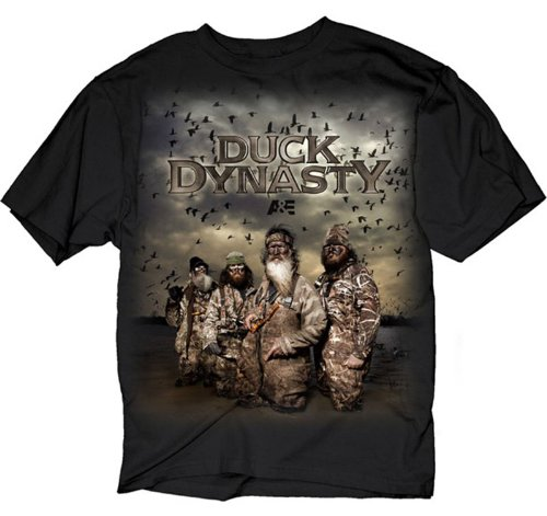 Duck Dynasty Poster Men's T-Shirt, Black, Large