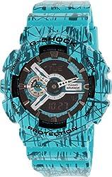 Casio G-Shock GA-110 Slash Pattern Designer Watch - Turquoise / One Size