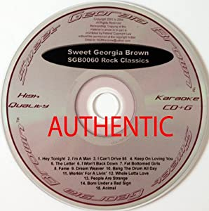 Rock Classics - SGB0060 Sweet Georgia Brown (Karaoke CD&G) - Amazon