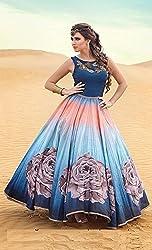 Shree Ganesh Women's Designer Multi-Coloured Silk Semi-Stitched Lahenga Choli [L50rose coffee_Multi-Coloured]
