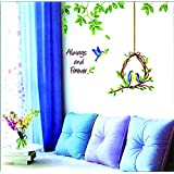 Cute Birdcage Design Home Decoration Wall Sticker