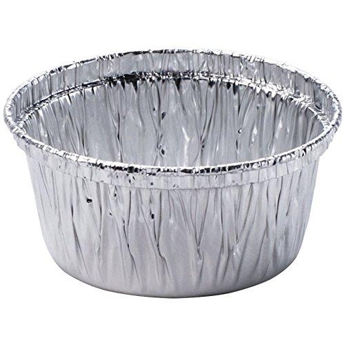 50 Aluminum Foil Muffin Cupcake Ramekin Cups (4 oz) Disposable