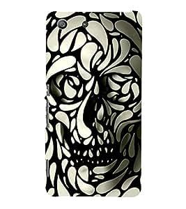 BLACK AND WHITE SKELETON IMAGE WITH WATER DROPLETS 3D Hard Polycarbonate Designer Back Case Cover for Sony Xperia M5 Dual E5633 E5643 E5663 :: Sony Xperia M5 E5603 E5606 E5653
