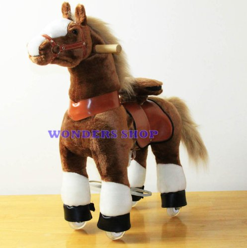 Exercising-PONYCYCLE-Ride-On-Horse-for-Children-3-to-5-Years-Old-or-Up-to-55-Pounds-SMALL-PONYCYCLE-Color-Brown