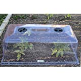 Garden Cloche Tunnel Plant Cover (5 Pack) - Cold Frame and Greenhouse Warmth for Frost Protection of Vegetable Plants, Herbs, & Garden Flowers