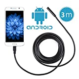 Crenova iScope USB接続エンドスコープ内視鏡Androidシステム対応 200万画素CMOS HDハンドヘルド式ボアスコープSamsung Galaxy/Note/SONY/Nexus/OTG機能付き (ケーブル長3メートル)