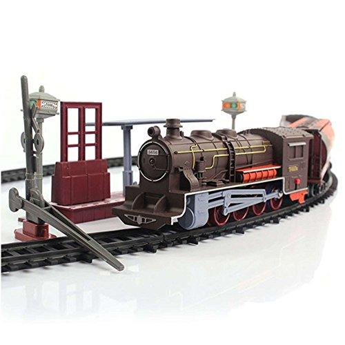 Elektrische-Eisenbahn-Lok-mit-Licht-und-Soundeffekte-Lokomotive-Zug-lange-Eisenbahnstrecke-Wagons-und-viel-Zubehr
