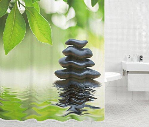 Duschvorhang, 12 Ringe, Wasserdicht, Anti-Schimmel-Effekt